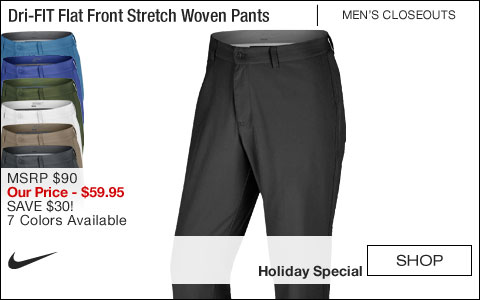 Nike Dri-FIT Flat Front Stretch Woven Golf Pants - ON SALE