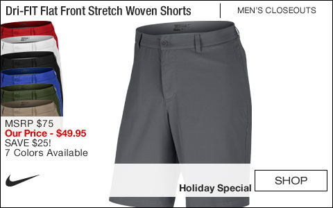 Nike Dri-FIT Flat Front Stretch Woven Golf Shorts - ON SALE