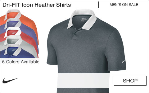 Nike Dri-FIT Icon Heather Golf Shirts - ON SALE