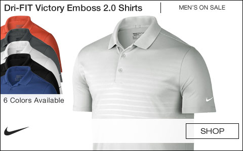 Nike Dri-FIT Victory Emboss 2.0 Golf Shirts - ON SALE