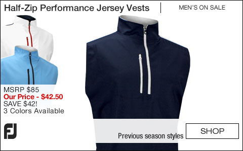 FJ Half-Zip Performance Jersey Golf Vests - ON SALE
