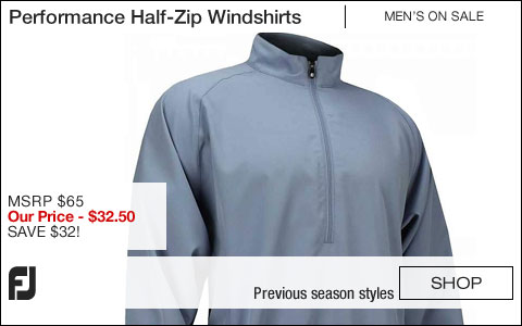 FJ Performance Half-Zip Golf Windshirts - ON SALE