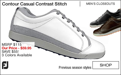 FJ Contour Casual Contrast Stitch Golf Shoes - CLOSEOUTS