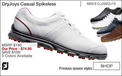 FJ DryJoys Casual Spikeless Golf Shoes - CLOSEOUTS