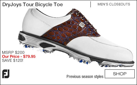 FJ DryJoys Tour Bicycle Toe Golf Shoes - CLOSEOUTS