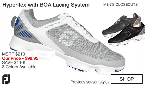 FJ Hyperflex Golf Shoes with BOA Lacing System - CLOSEOUTS
