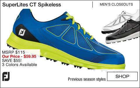FJ SuperLites CT Spikeless Golf Shoes - CLOSEOUTS