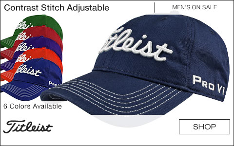 Titleist Contrast Stitch Adjustable Golf Hats - ON SALE