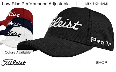 Titleist Low Rise Performance Adjustable Golf Hats - ON SALE