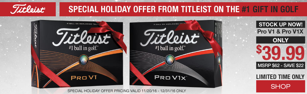 Special Holiday Pricing on Pro V1 and Pro V1X Golf Balls