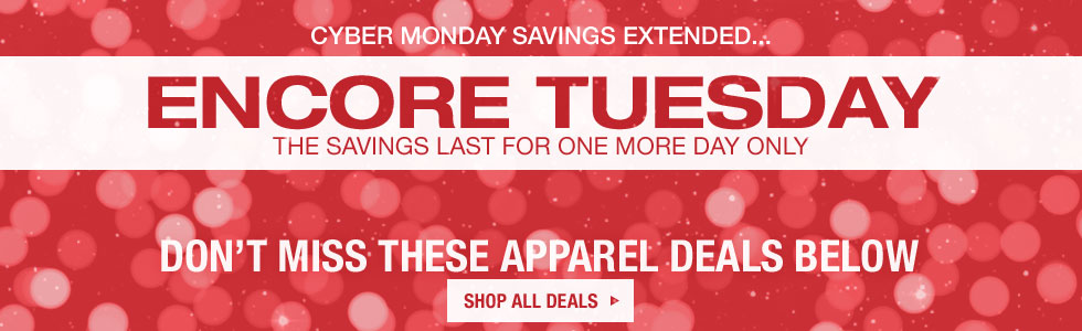 Encore Tuesday Shoe Deals - Cyber Monday Savings Extended One More Day