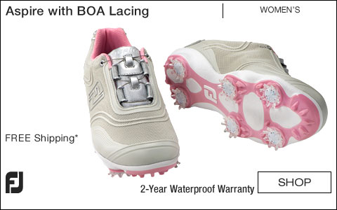 FJ Aspire Women's Golf Shoes with BOA Lacing System