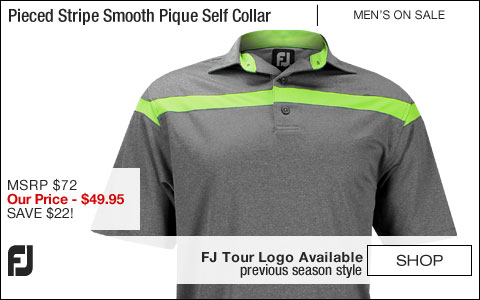 FJ Pieced Stripe Smooth Pique Self Collar Golf Shirts - Riverside Collection - FJ Tour Logo Available - ON SALE
