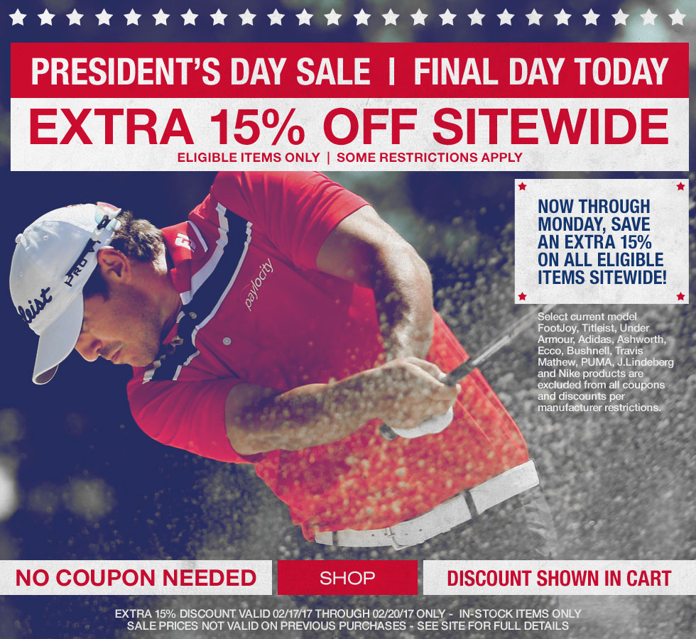 President's Day Sale - 15% Off - Final Day Today