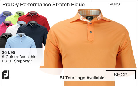 FJ ProDry Performance Stretch Pique Golf Shirts - FJ Tour Logo Available