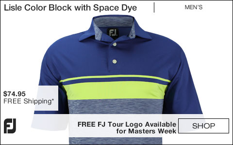 FJ Lisle Color Block with Space Dye Golf Shirts - Pacific Grove Collection - FREE FJ Tour Logo Available
