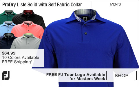 FJ ProDry Lisle Solid Golf Shirts with Self Fabric Collar - FREE FJ Tour Logo Available