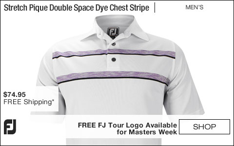 FJ Stretch Pique Double Space Dye Chest Stripe Golf Shirts - Athletic Fit - Westchester Collection - FREE FJ Tour Logo Available