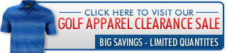 Check out our golf apparel clearance sale!