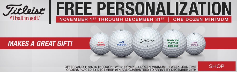 Free Personalization on Titleist Golf Balls - Limited Time Only