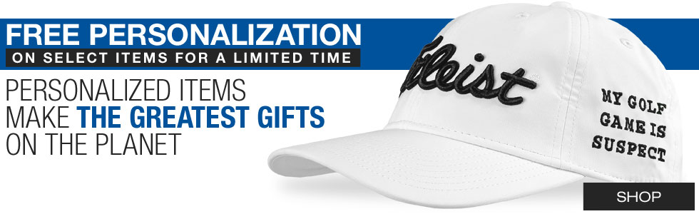 Free Personalization on Select Items for the Holidays from Golf Locker