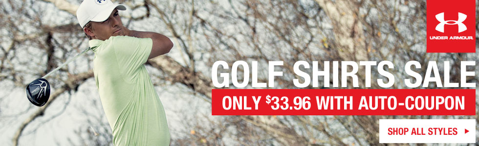 Huge Shipment of Under Armour Golf Shirts Closeouts Just Arrived