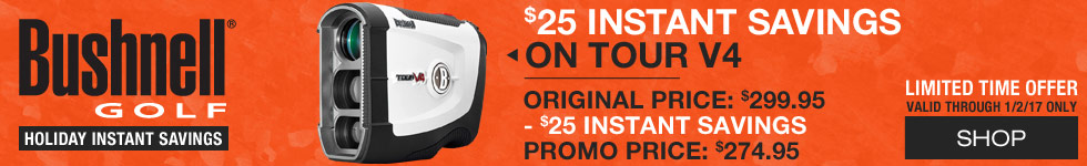 Bushnell Holiday Instant Savings - Tour V4 Golf Rangefinder Patriot Packs