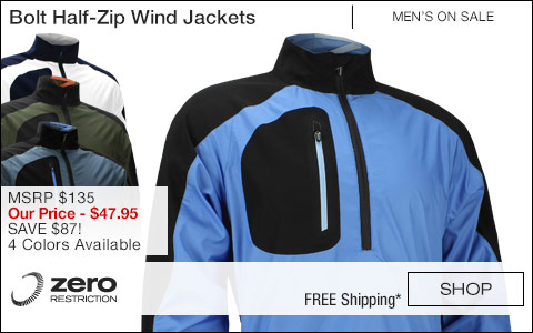 ZR Bolt Half-Zip Golf Wind Jackets - ON SALE