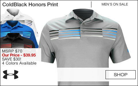 Under Armour ColdBlack Honors Print Golf Shirts - ON SALE