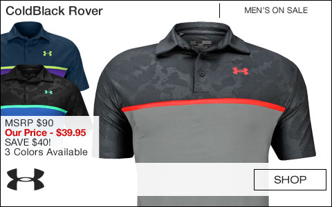 Under Armour ColdBlack Rover Golf Shirts - ON SALE