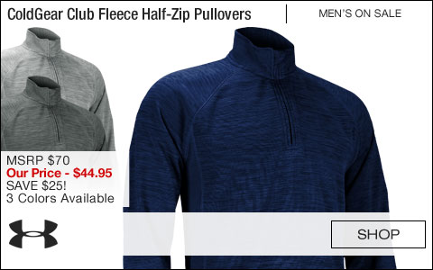 Under Armour ColdGear Club Fleece Half-Zip Golf Pullovers - ON SALE