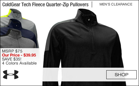 Under Armour ColdGear Tech Fleece Quarter-Zip Golf Pullovers - CLEARANCE