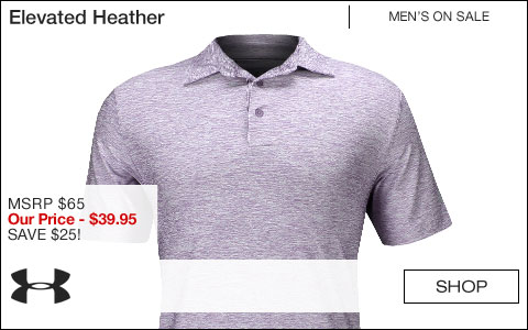 Under Armour Elevated Heather Golf Shirts - ON SALE