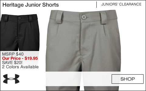 Under Armour Heritage Junior Golf Shorts - CLEARANCE