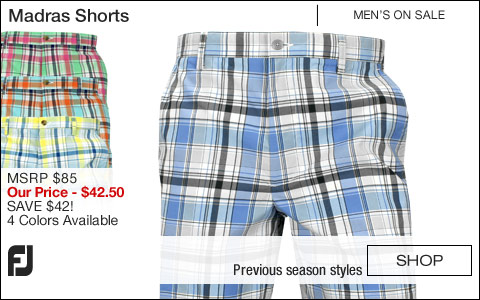 FJ Madras Golf Shorts - ON SALE