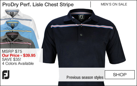 FJ ProDry Performance Lisle Chest Stripe Golf Shirts - Athletic Fit - ON SALE
