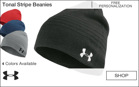 Under Armour Tonal Stripe Golf Beanies - Free Personalization