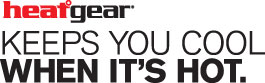 HeatGear Technology - keeps you cool when it's hot