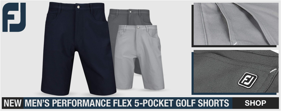FJ Performance Flex 5-Pocket Golf Shorts