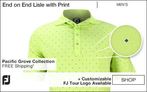 FJ End on End Lisle with Print Golf Shirts - Pacific Grove Collection - FJ Tour Logo Available
