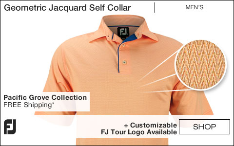 FJ Geometric Jacquard Self Collar Golf Shirts - Pacific Grove Collection - FJ Tour Logo Available