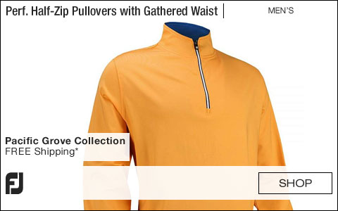 FJ Performance Half-Zip Golf Pullovers with Gathered Waist - Pacific Grove Collection