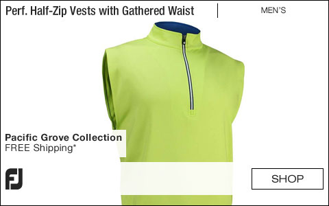 FJ Performance Half-Zip Jersey Pullover Golf Vests with Gathered Waist - Pacific Grove Collection