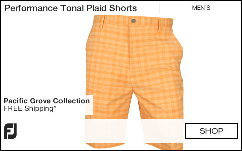 FJ Performance Tonal Plaid Golf Shorts