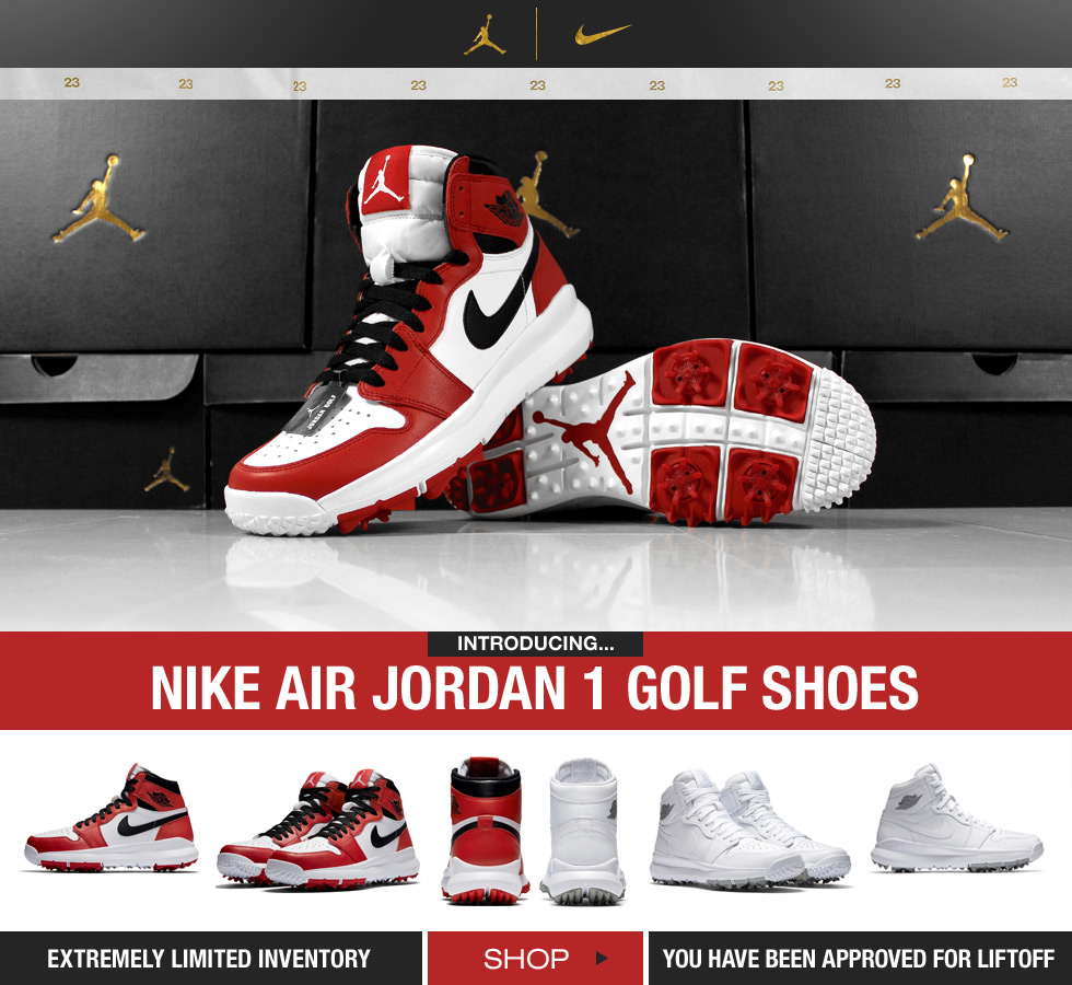 Nike Air Jordan 1 Golf Shoes - Available at Golf Locker