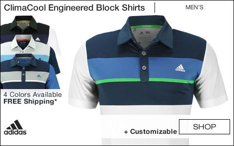Adidas ClimaCool Engineered Block Golf Shirts