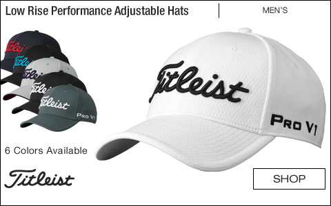 Titleist Low Rise Performance Adjustable Golf Hats