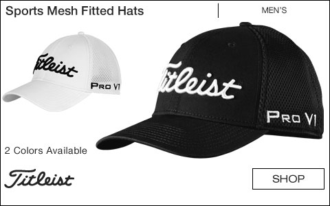 Titleist Sports Mesh Fitted Golf Hats