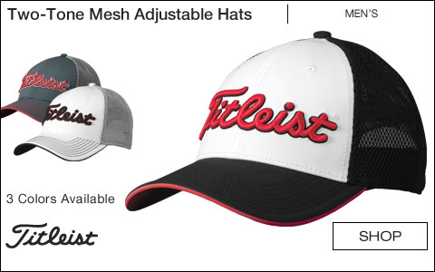 Titleist Two-Tone Mesh Adjustable Golf Hats