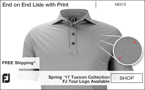 FJ End on End Lisle with Print Golf Shirts - Tucson Collection - FJ Tour Logo Available